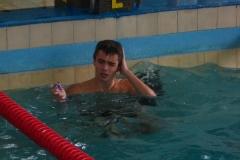 08. Piotr Knapik po zakonczeniu zwycieskiego dystansu - 50 m stylem motylkowym